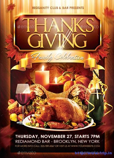 Thanksgiving-Family-Celebration-Flyer