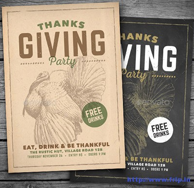 Vintage-Thanksgiving-Party-Flyer