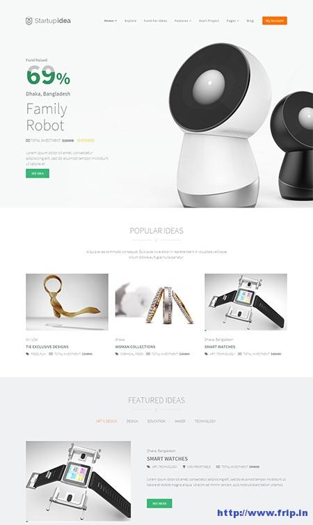 startup-idea-crowdfunding-wordpress-theme