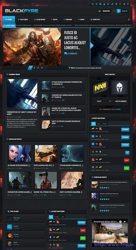 Blackfyre-Gaming-Community-WordPress-Theme