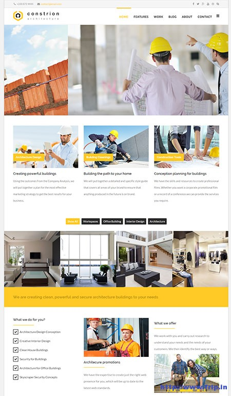 Constrion-Construction-&-Builder-Template