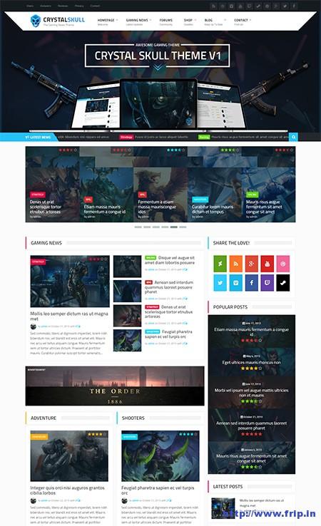 Crystal-Skull-Gaming-Magazine-WordPress-Theme