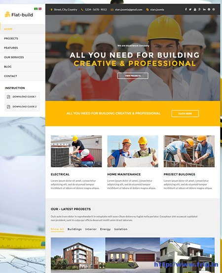 Flatbuild-Construction-Joomla-Template