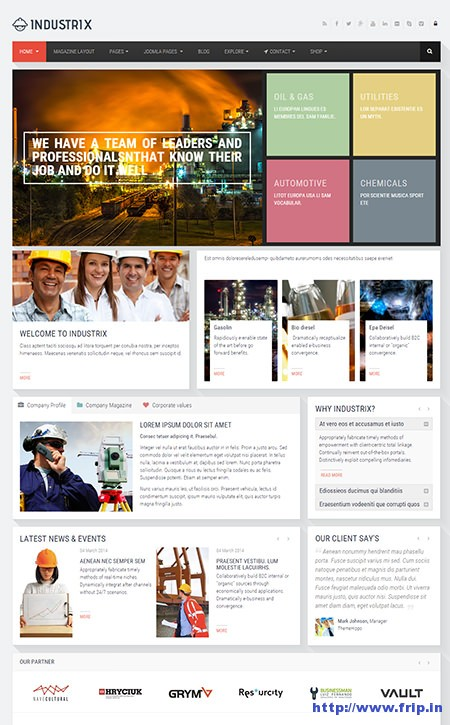 Industrix-Joomla-Responsive-Business-Template