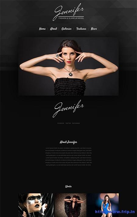 Jennifer-Model-WordPress-Theme