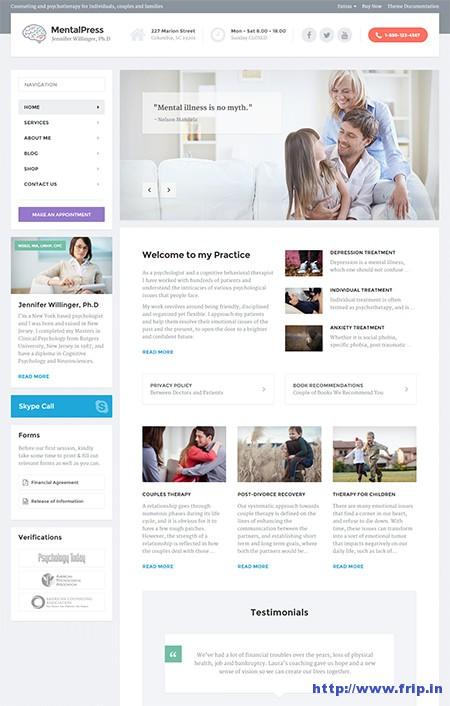 Mental-Press-Medical-WordPress-Theme
