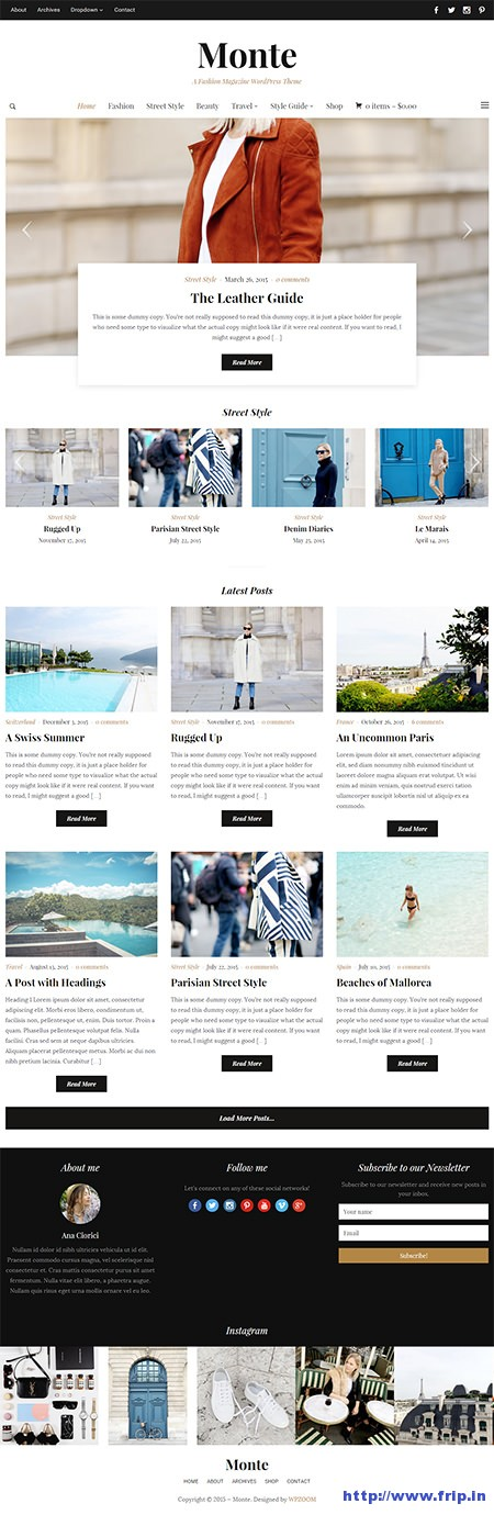 monte magazine wordpress theme