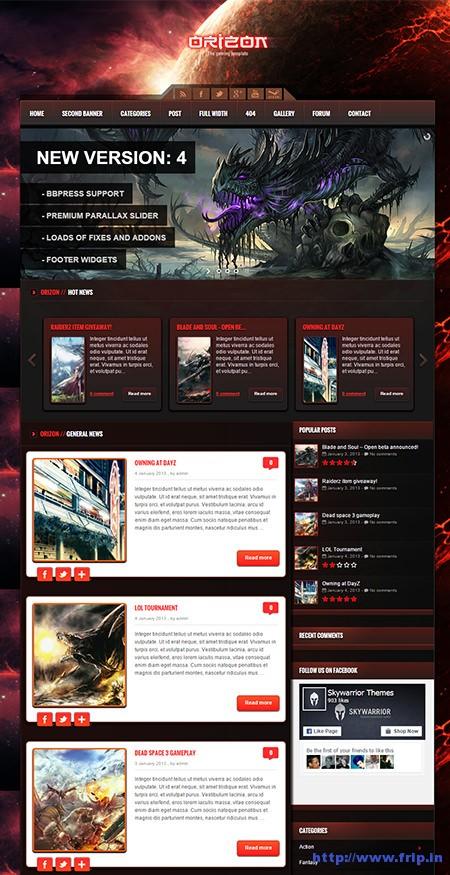 Orizon-Gaming-WordPress-Template