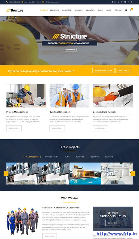 Structure-Construction-Virtuemart-Template