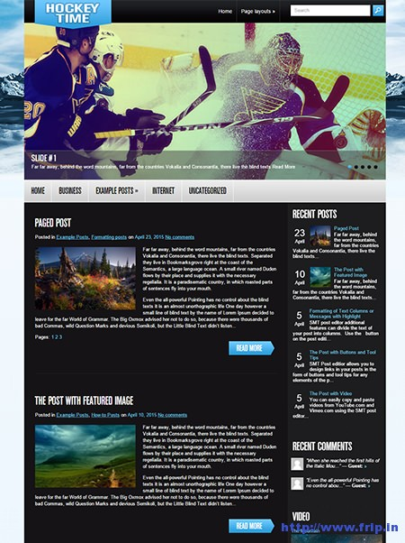 hockeytime-sports-wordpress-theme