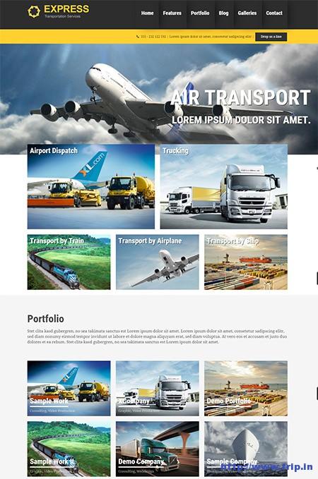 Express-WordPress-Transportation-Theme