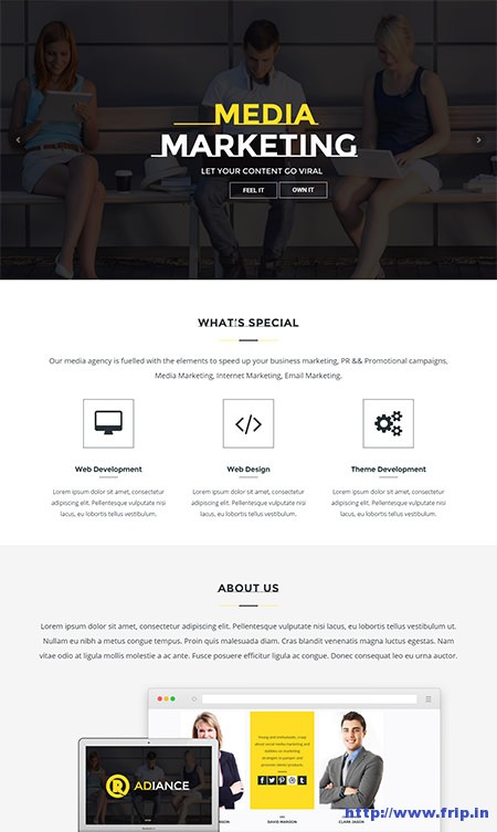 Radiance-Onepage-WordPress-theme