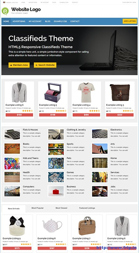 Responsive-Classified-WordPress-Theme