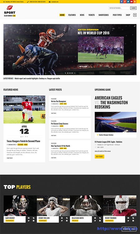 Sports-Club-WordPress-Theme
