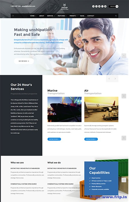 Unship-Transport-WordPress-Theme