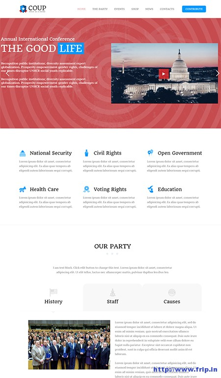 coup-political-campaign-wordpress-theme