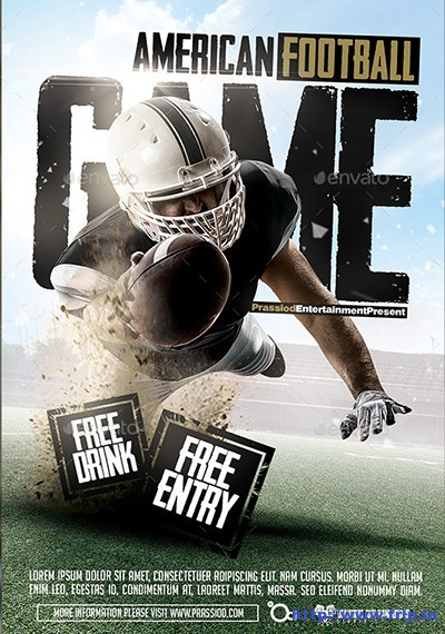 American-Football-Game-Flyer-Template