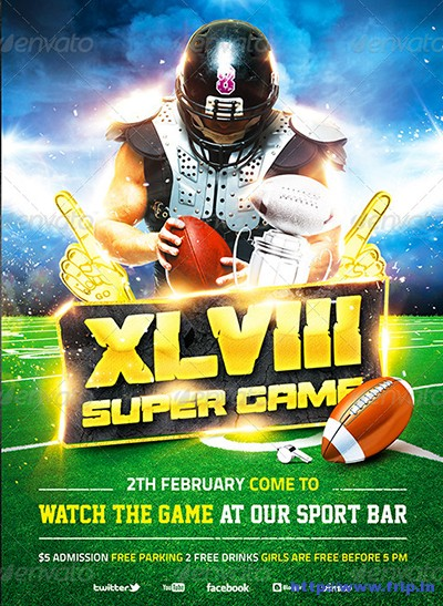 American-Football-Super-Game-Flyer