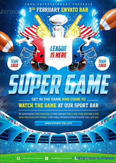 American-Football-Super-Game-Poster