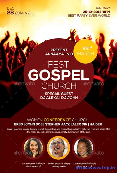 Gospel-Fest-Church-Flyer-Template