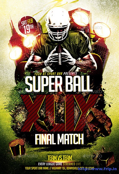 Super-Ball-Final-Match-Flyer-Template