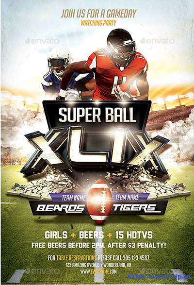 Super-Ball-Football-Flyer-Templates