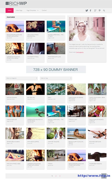 clear clean video world wordpress theme