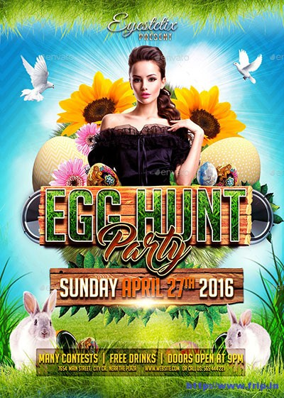 Easter-Party flyer