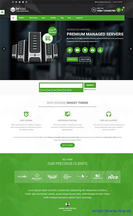 Inhost-Hosting-WHMCS-WordPress-Theme