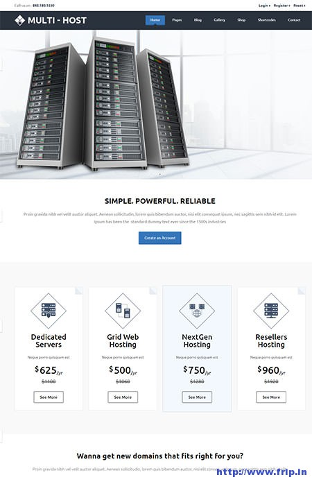 Multi-Host-WHMCS-Hosting-WordPress-Theme