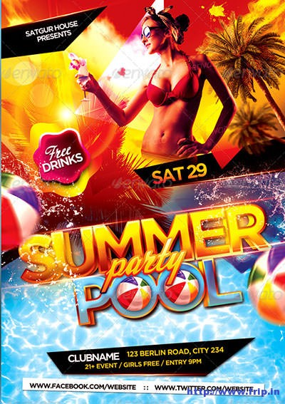 Pool-&-Beach-Summer-Party-Flyer