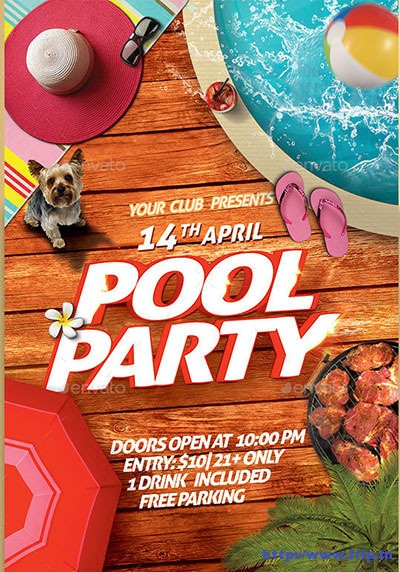 Pool-Party-Flyerss