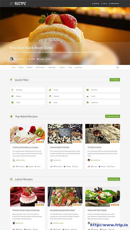 Recipe-WordPress-Theme-for-Recipes