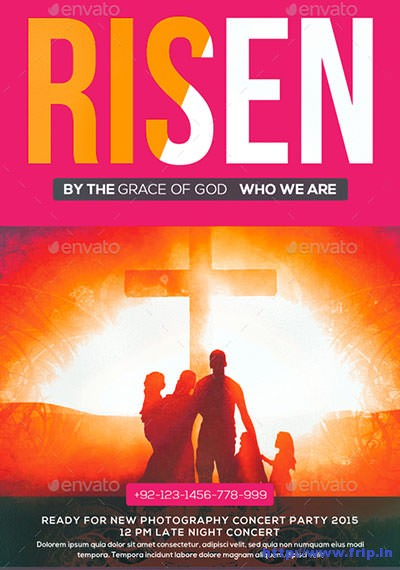 Risen-Church-Flyer-Templatess