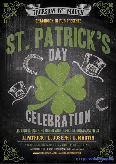 Saint-Patrick's-Party-Flyers