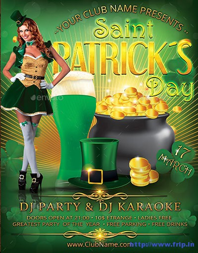 St-patrick-day-flyer-poster-template