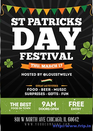 St-patricks-day-festival-flyer-template