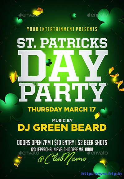 St-patricks-day-party-flyer