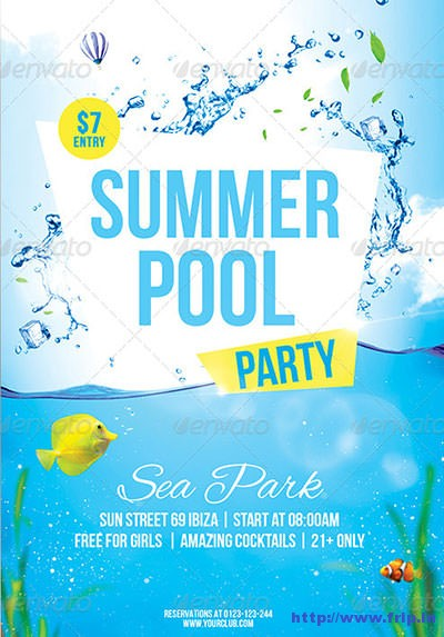 Summer-Pool-Party-Flyerss