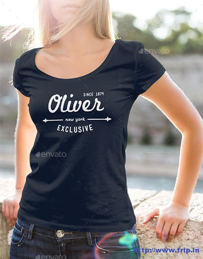 T-–-Shirt-Mockup-Female-Model-Edition