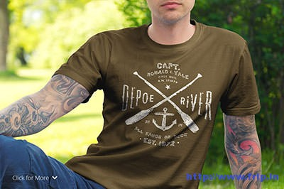 T-–-Shirt-Mockup-Set