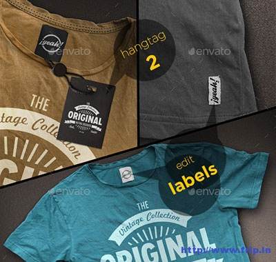 T-–-Shirt-Mockup-with-Realistic-Hangtag