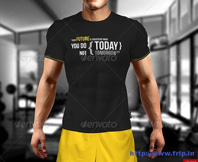 T-–-Shirt-on-Muscular-Man-Mock-–-Up