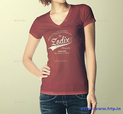 Woman-T-–-Shirt-Mock-–-Up