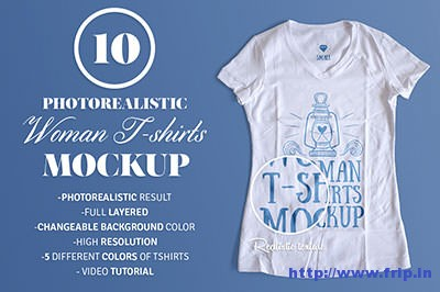 Woman-T-–-Shirt-Mockup
