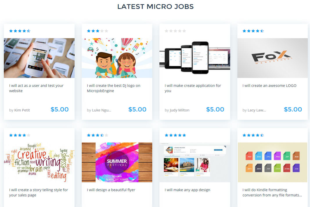 MicrojobEngine Micro Job Marketplace WordPress Theme By