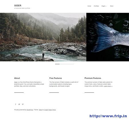 sider-horizontal-slider-portfolio-theme