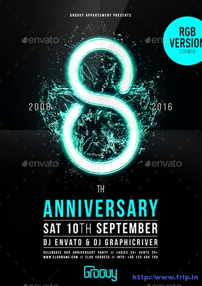 60+ Best Anniversary Party Flyer Print Templates 2019 | Frip in