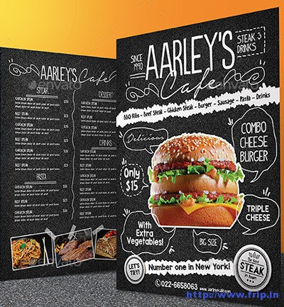 Aspahalt-Food-Menu-Flyer
