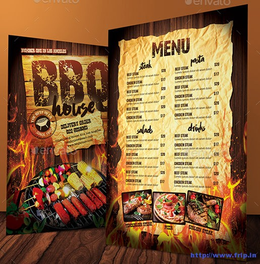 Barbecue--Steak-Menu
